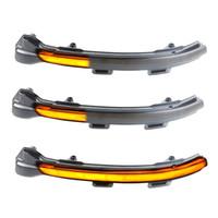 espejos laterales de señal de giro al por mayor-Encienda las luces de señales 2pcs LED LED dinámica intermitente lado de la lámpara de luz de espejo para golf 7 7,5 7 R GTD coche de la luz Dropshipping