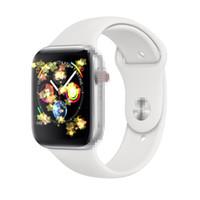 ip68 telefone wifi venda por atacado-De carregamento sem fio Goophone inteligente Series Assista 4 relógio inteligente 44 milímetros Bluetooth 4.0 MTK2502C Wearable Magnetic Adsorção Smartwatch