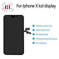 iphone lcd ekran oem toptan satış-Oled oem lcd ekran iphone x için dokunmatik ekran digitizer meclisi yedek parçalar ile siyah ücretsiz dhl