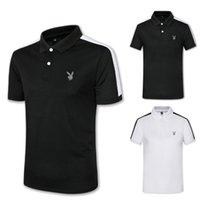 ingrosso polo di lusso uomini-T-shirt da uomo di design in cotone nero a righe maschile S-3XL