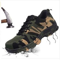 Wholesale anti slip shoes for women for sale - Group buy Indestructible Safety Work Shoes Mesh Steel Toe Caps Shoe Outdoor Non slip Travel Anti puncture Tooling Boots for Man Woman