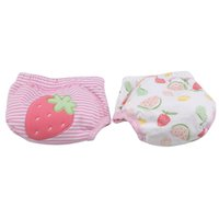 Wholesale training nappies resale online - 2 Reusable Nappies Cute Adjustable Cotton Baby Washable Cloth Diaper Training Pants