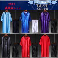 leere fußball trikots hemden großhandel-2019 Adult Kit Anpassen Ihres Teams Logo Blank Soccer Jerseys Set Uniform Camisetas de Futbol mit Shorts Football Shirts Schiff frei