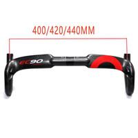 yol bisikletleri için karbon sapları toptan satış-EC90 tam karbon fiber yol bisikleti viraj gidon gidon 3 K C standart klasik rüzgarlık karbon fiber yol kolu