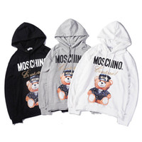 hombres con capucha larga al por mayor-Nuevo diseñador de los hombres con capucha Sweatershirt suéter para hombre sudaderas con capucha de marca de lujo ropa delgada de manga larga Movimientos juveniles Streetwear