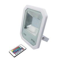 luces de inundación llevadas smd al por mayor-Proyector de LED Proyector de aluminio para exteriores 30W 50W 100W SMD 2835 Luz de inundación LED impermeable IP66 RGB blanco cálido blanco