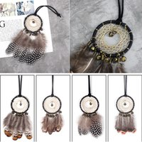 Wholesale vintage car gifts resale online - Creative Car Pendant Wind Chimes Vintage Handmade Dreamcatcher with Feathers Wall Hanging Decoration New Year Gift Party Favor