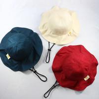 ingrosso sottile cappuccio traspirante-Cappelli di snapback cappelli di design per bambini Cappello secchio di cotone per bambini estate ragazzi ragazze bambino sottile 2-3 cappello pescatore cappello snapbacks traspirante