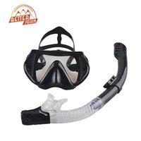 óculos de mergulho venda por atacado-Atacado-2016 New Professional Scuba Máscara de Mergulho Snorkel Anti-Fog Óculos Óculos Conjunto de Silicone Piscina de Natação Piscina Equipamento 6 Cor