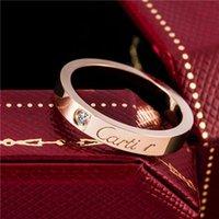 paar paare klingelt groihandel-18k Rose Goldring Fancy Gold-Diamant-Ring Einzel Glossy Sterlingsilber-Ring Paar Paar Ringe Schwanz Ring Mode-Accessoires Versorgungs