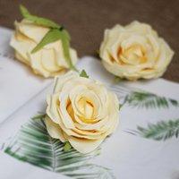 çiçek şakayık gül kamelya düğün toptan satış-EN IYI SATICI ÇIÇEK KAFALARı 100 p Yapay Ipek Kamelya Gül Sahte Şakayık Çiçek Baş Düğün Parti için 9 cm Ev Dekoratif Flowewrs