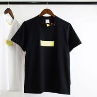 bling camisetas al por mayor-18FW Bling Box Logo Tee Fashion Street Skateboard Diamond Print camiseta hombres mujeres transpirable joven Hip Hop manga corta HFTTTX039