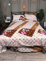 ingrosso copertura della quilt di qualità regina-Tessuti per la casa ispessimento esplosivo levigatura tributo set biancheria da letto firmata in cotone di design Copripiumino 4 pezzi vestito Queen Bed Trapunta nuovo