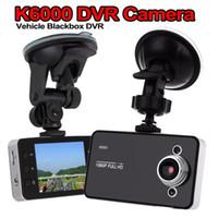 gizli video 8gb toptan satış-K6000 Araba DVR HD 2.7 '' LCD Seyahat / Sürüş / Yüksek hızlı Veri Kaydedici / Araç Kamera Ile 90 Derece Görüş Açısı Siyah