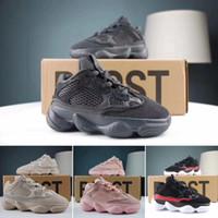 kanye west talons achat en gros de-Adidas Yeezy 500 Enfants Designer Chaussures Kitten bébé Tout-petit talon Kanye West Yz 500 Sneaker infantile Chaussures de course Sport Filles Garçons Enfants