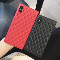 Wholesale i phone cases accessories for sale - Group buy For IPhone X XS Max s Plus Case Luxury Designer Leather Back Cover Aurora Protective for I Phone plus Cell Phone Accessories