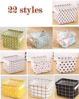 Wholesale storage home basket for sale - Group buy Foldable Colors Sundries Storage Bin Closet Toy Box Container Organizer Fabric Basket Home Desktop Storage wash stand Cosmetics Basket Bags