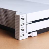 puerto xbox al por mayor-Para Microsoft Xbox One Slim Usb Hub Accesorios de la consola de juegos de cuatro puertos USB 2.0 Extender de Xbox OneS