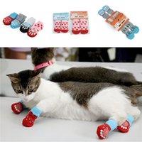 tv socken großhandel-Haustier Hund Katze Warme Socken Winter Hündchen weiche Baumwolle Anti-Rutsch-Knit Weave Socken Weihnachten Haustier Anti-Rutsch-Socken