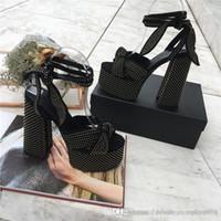 sandálias de salto alto venda por atacado-A série de primavera e verão mais popular, o estilo de design clássico mais recente temperamento moda ultra-salto alto sandálias femininas dimensionar 34-42