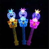 Wholesale kids magic light for sale - Group buy 2018 Flashing Stick Cartoon Crown Magic Wand Light Sticks Kids Toys Party Supplies Wedding Decoration H356