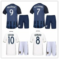 la galaxy shorts großhandel-2018 2019 LA Galaxy Ibrahimovic Fußballtrikot kurz 18 19 GERRARD Los Angeles ALESSANDRINI GIOVANI ZARDES ROGERS Fußballshirt
