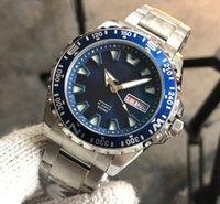 japão relógios mecânicos venda por atacado-2019 Famosa moda no Japão Mens Watch preto Azul Dial Mecânico Automático de Aço Inoxidável Relógios Masculinos Relógio Masculino Relojes de esportes de Negócios