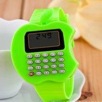 relógios baratos venda por atacado-Criança Assista calculadora portátil Relógios Meninas Meninos silicone crianças assistem bonito Mini Aprendizagem Crianças Relógio Relógio Reloj Orologio