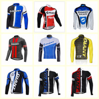 Wholesale giant mtb long sleeve jersey for sale - Group buy 2019 GIANT team Cycling long Sleeves jersey New men Mtb Bike Maillot ropa Ciclismo Comfortable U91104