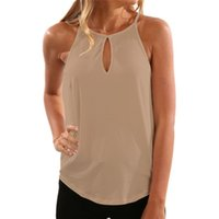 camis de mujer al por mayor-2019 DHL Womens Tops sin mangas Halter Racerback verano camisas casuales camisetas básicas Cami Tank Tops playa Blusas