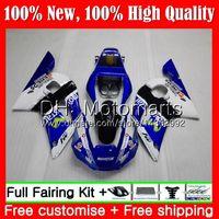 carrocería r6 al por mayor-Kit para YAMAHA YZF R6 Movistar Azul YZF600 YZFR6 98 99 00 01 02 88MT21 YZF 600 YZF-R600 YZF-R6 1998 1999 2000 2001 2002 2002 Carenado