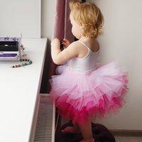 Wholesale dance petticoats resale online - Fashion Girls Tutu Super Fluffy Layer petticoat Princess Ballet Dance Tutu Skirt Kids Cake Skirt Chritsmas Halloween