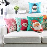 fundas de almohada de navidad de la vendimia al por mayor-Fundas de cojín navideño Funda de almohada decorativa Vintage Linen Snowman X 'Max Tree Fox Funda de almohada 45Cm * 45Cm / 60X 60Cm / 30X 50Cm