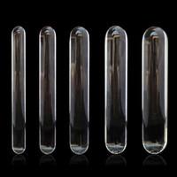 Wholesale huge glass penis for sale - Group buy Cylinder Glass Dildo Big Huge Large Glassware Penis Crystal Anal Plug Sex Toys For Women G Spot Stimulator Pleasure Wand Y190714