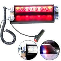 yanıp sönen çalışma lambaları toptan satış-Işık Çalışma Lights Uyarı 8LEDs Araba Kamyon Polis Strobe Flaş Işığı Dash Acil 3 Yanıp Modu Işıklar Strobe Flaş