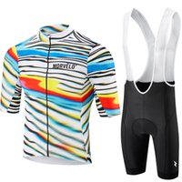 Wholesale morvelo cycling resale online - High quality Morvelo Pro short sleeve cycling jersey bib shorts shirt set clothes sport short sleeve MTB bike ropa ciclismo