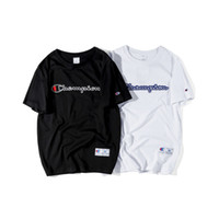 gömlek için yeni stiller toptan satış-Mens T Shirt 2019 Yaz Yeni Tasarımcı Marka Elbise Moda Mektup Baskı T-Shirt Eğilim Sokak Stil Tees 2 Renkler