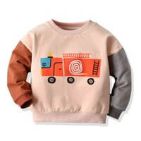 Wholesale baby cars outfit resale online - Infant Kid Baby Girl Boy Winter Warm Sweater Cartoon Car Tops Outfits Clothes BY