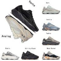 diseñadores de cajas de zapatos al por mayor-2019 adidas yeezy 700 v2 Boost verano Negro blanco para hombre Zapatillas de deporte Crema Crema roja cebra Mujer Moda Deporte Zapatillas 36-45