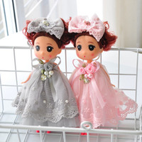 ingrosso merletti di regalo borse-Pizzo confuso giocattolo bambola bambola borsa pendente catturato bambola per ragazzi e ragazze piccolo ciondolo regalo per bambini V086