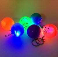 Wholesale looking for toys for sale - Group buy Hot Sale Colourful Surprise Egg LED Light Keychain Keyrings Amusing Face Look Ball Toys For Children Kids