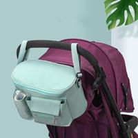 organizatör posta çantaları toptan satış-Bebek Anne Nappy Messenger Aksesuarları Arabası Asılı Organizatör Çanta Bebek Çocuk Depolama Şişe Bezi Çantası LJJM2340