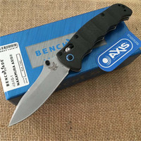 Wholesale bench made for sale - Group buy High end BENCH carbon fiber handle Advanced folding knife Bench BM made S Nakamura AXIS M390 Satin Plain blade knife