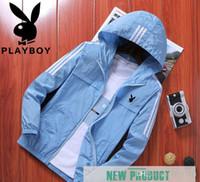 korece erkek giyim stilleri toptan satış-Harajuku Tarzı Playboy Ceket erkek Yaz Ultra-ince Nefes Moda Güneş Koruyucu Giysi Kore UV Koruma Yaz erkek Ceket