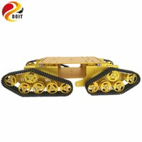 Wholesale toy chassis resale online - 4WD Robot Tracked Tank Car Chassis TD900 with Aluminum Alloy Chassis Frame Robotic Arm Interface Holes DIY RC Toy