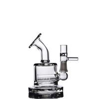 ingrosso hookahs unici-Mini tubi da 2,5 pollici Mini tubi Dab Bong Tubi d'acqua in vetro Unico Bong d'acqua con olio di cocco, con narghilè da 10mm, narghilè