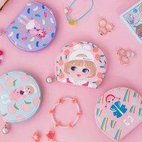 bolsas de dulces corea al por mayor-Niñas neceser de Candy Girl Peach flor joyería bolso de las mujeres Las bolsas joyería linda Corea Japón