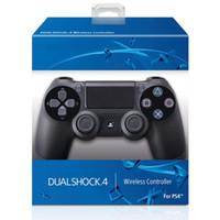 ingrosso logo imballaggio al dettaglio-SHOCK 4 Wireless Controller TOP qualità Gamepad per PS4 joystick con il pacchetto di vendita al dettaglio di MARCHIO controller di gioco di trasporto del DHL