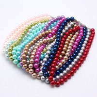 Wholesale kids chunky beads necklace for sale - Group buy 14 Styles Fashion Solid Color Pearl Kid Chunky Necklace Girls Bubblegum Beads Chunky Necklace Jewelry For Children M1448