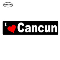 Wholesale Car Styling I love Cancun Mexico bumper Car sticker decals vacation travel resort Waterproof Accessories